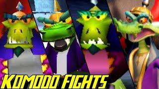 Evolution of Komodo Bros. Battles in Crash Bandicoot Games (1996-2017)