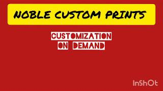 Noble Custom Prints Intro (Part 1)...Customized Corporate Gifting & Promotional products