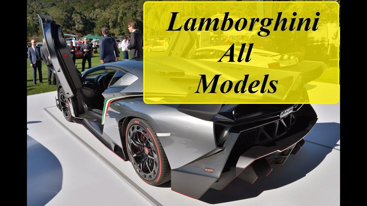 Lamborghini All Models From Beginning 1964 2016 Youtube