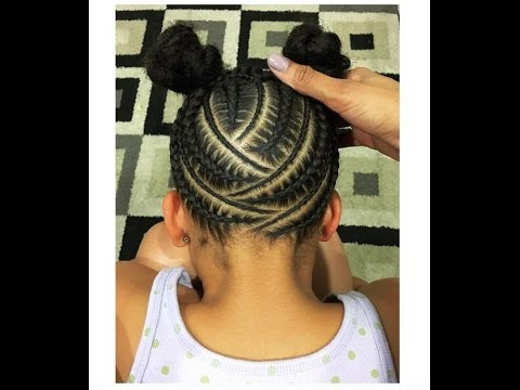 Beautiful Braids Hairstyles For Black Kids 2017 Youtube