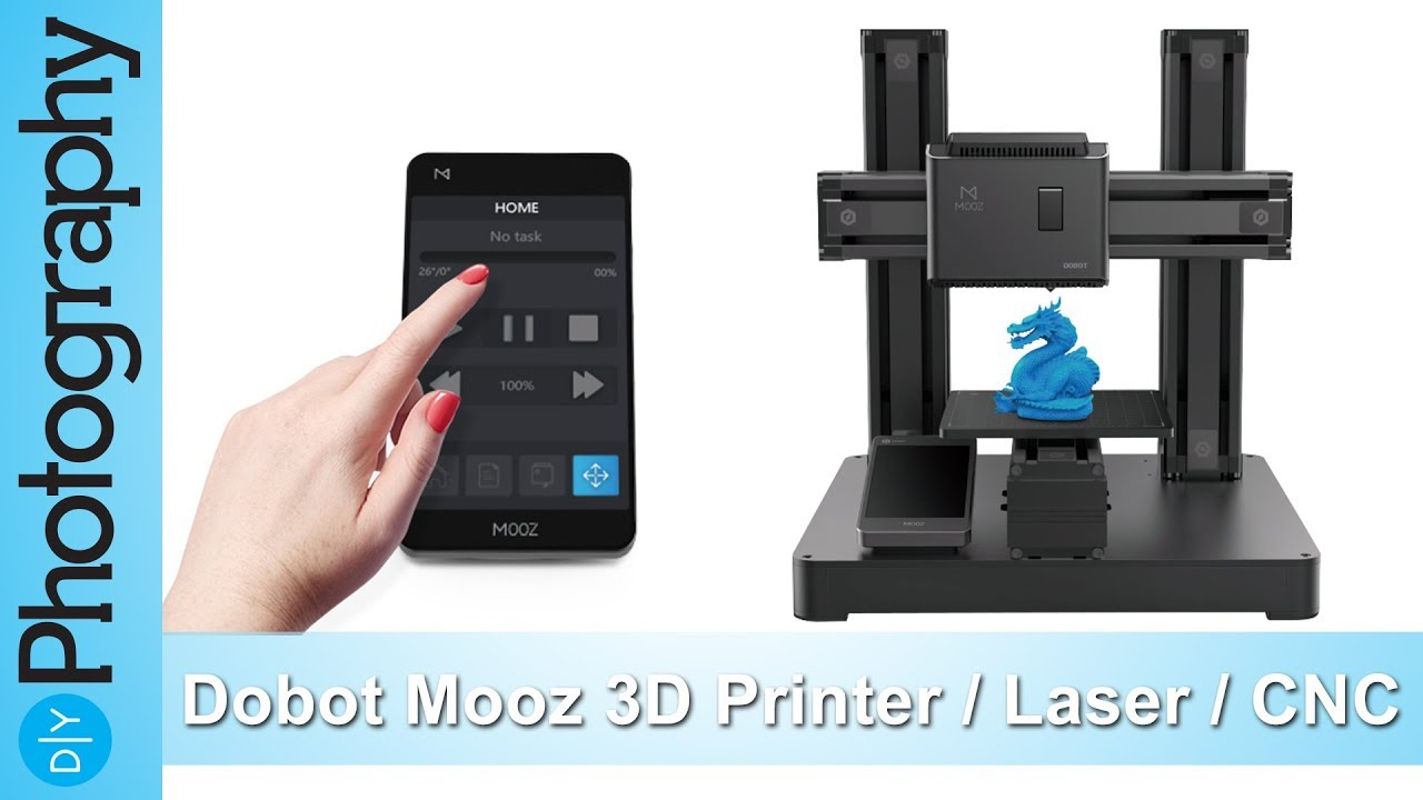 The Dobot Mooz is a 3D printer, laser engraver and CNC