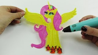 My Little Pony | How to Draw Flutershy Alicorn with 3D Pen | Video for Kids(My Little Pony How to Draw Flutershy Alicorn with 3D Pen Video for Kids Music: