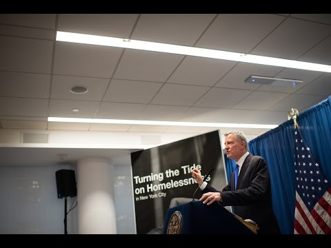 Mayor de Blasio Delivers Speech on Vision and Plan to Combat Homelessness