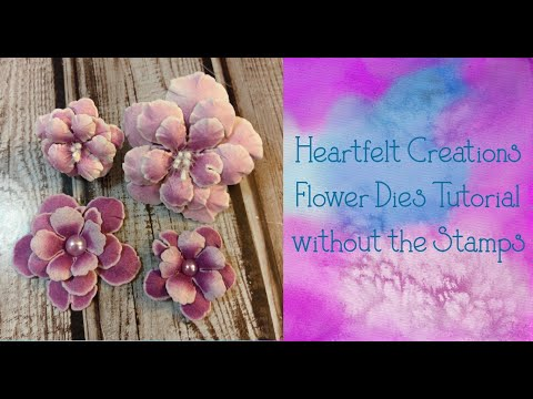 ASC Design Team Project - Heartfelt Creations Rose Tutorial Without Stamps