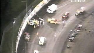 2000 Steve Kinser, Shepard, Blaney Crash at Knoxville Nationals