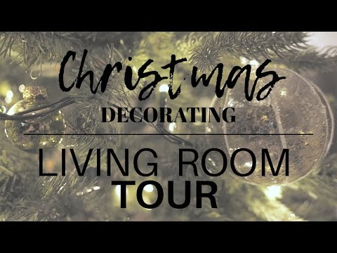 Decorating for christmas + living room tour | VLOG