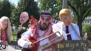 וושינגטון: מפגינים נגד יורש העצר בן סלמאן