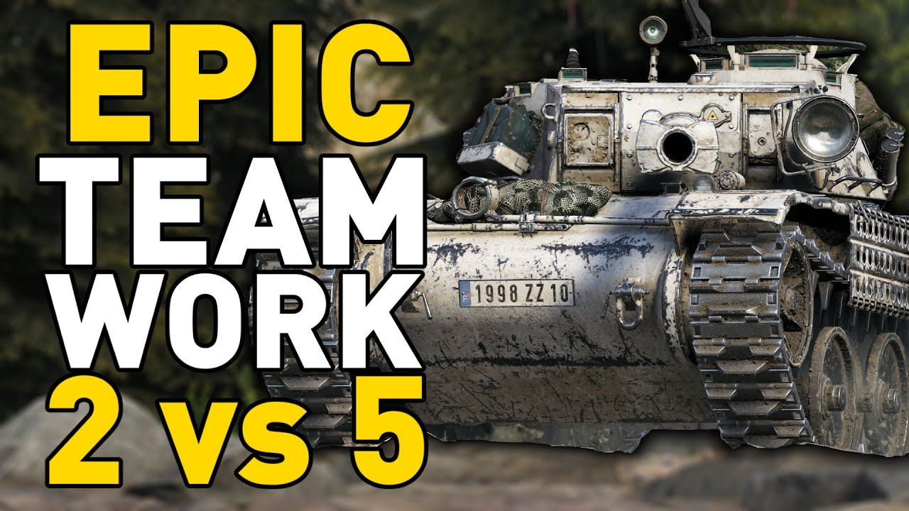 EPIC TEAMWORK 2 vs 5 - World of Tanks thumbnail