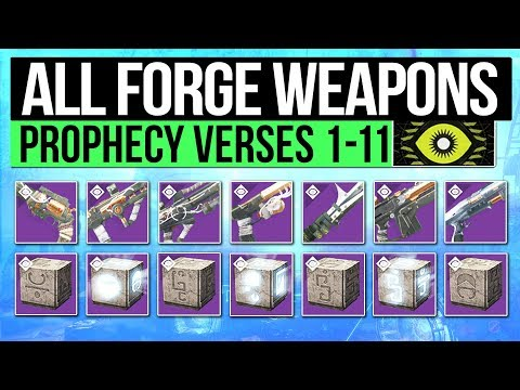 Destiny 2 | ALL FORGE WEAPONS & VERSES! - Lost Prophecy Weapon Perks, Secret Verse & How to Get Them