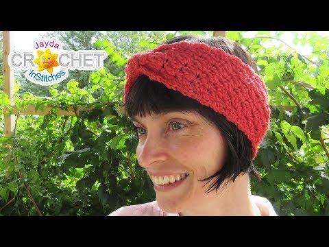 Falling Leaves Headband Ear Warmers Crochet Tutorial