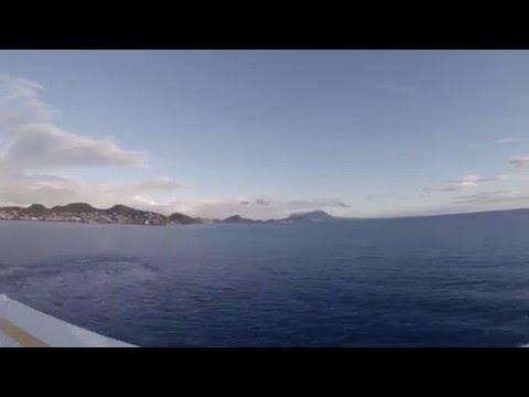 St Kitts Nevis Evening Departure Timelapse