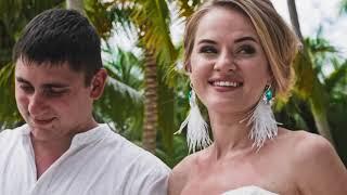 Романтичное видео со свадьбы  Олеси и Артура на острове Саона в Доминикане. Happy People Wedding