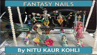 Fantasy Nail Art Design | Fantasy Nails in Hindi | Radha Krishna Fantasy Nails INDIA
