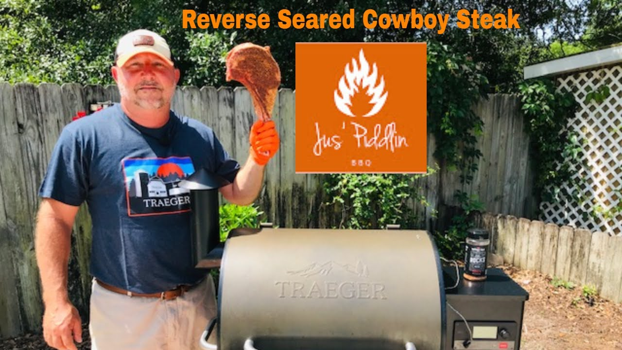 Download Perfect Beef Ribeye Cowboy Steak on the Traeger Pro 575 Pellet Grill
