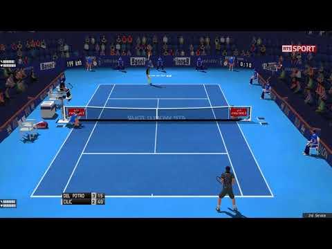 Tennis Elbow 2013 - Del Potro vs Cilic - Basel 2017