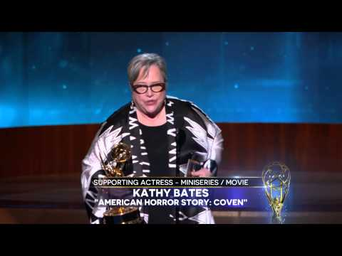 Kathy Bates Wins for Supporting Actress in a Miniseries or a Movie