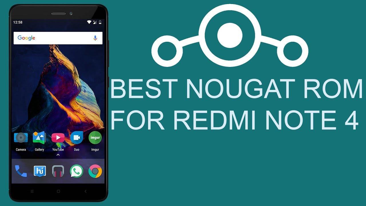 Best Nougat ROM For Redmi Note 4 (Winner)