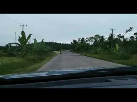 Kondisi jalan rusak di Kecamatan Ketapang, Kabupaten Lampung Selatan, Lampung