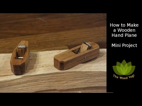 How to make a Wooden Hand Plane - Mini woodworking Project and Giveaway