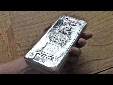 I bought a 100 oz silver bar!