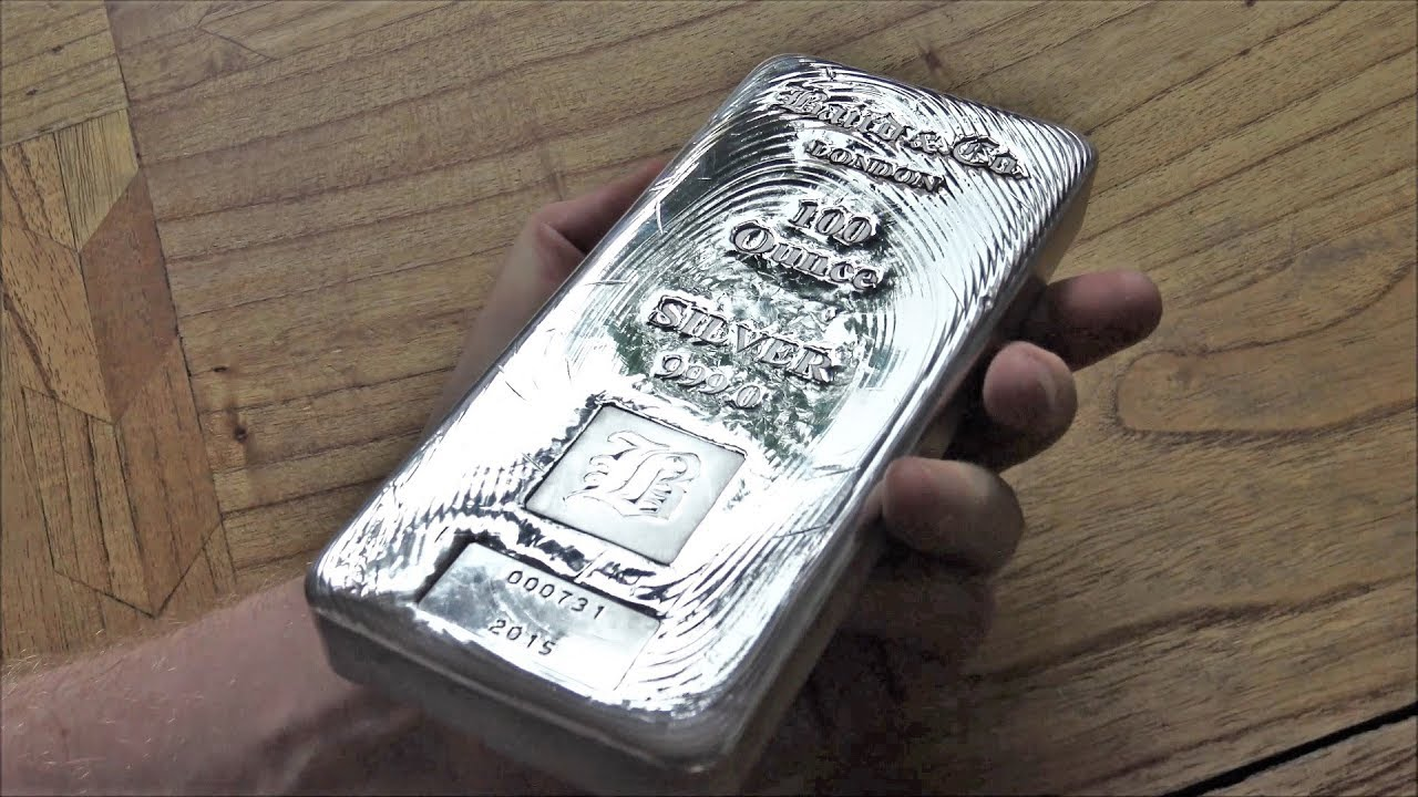 I Bought A 100 Oz Silver Bar Youtube