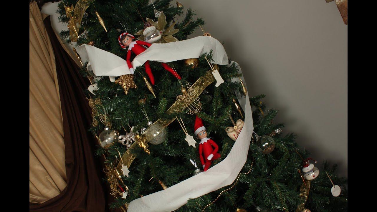 Elf On The Shelf Toilet Paper The Christmas Tree Youtube