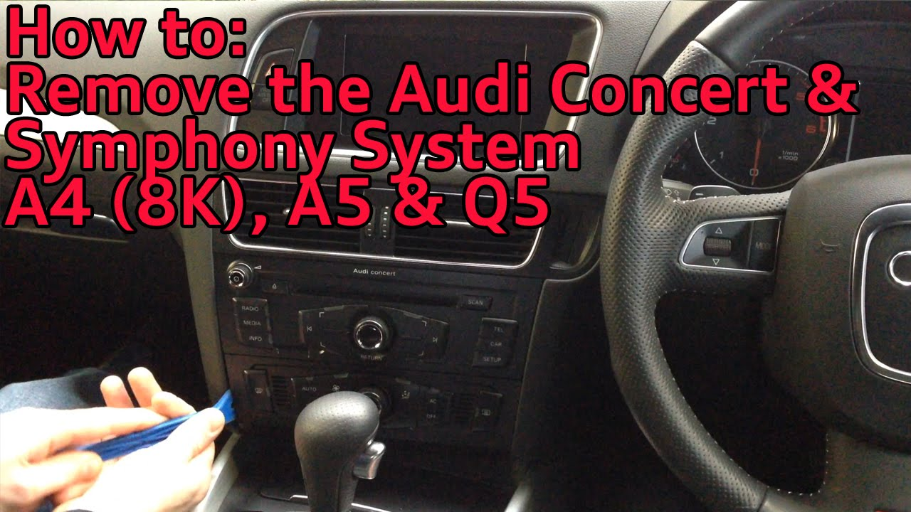 how to remove the audi concert symphony radio system. Black Bedroom Furniture Sets. Home Design Ideas