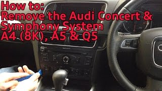 how to remove the audi concert symphony radio system