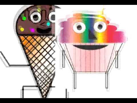 Ice Cream And Cake Dance Animation