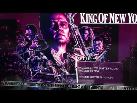 King Of New York (1990) Steelbook (Arrow Video) Menu screens and packaging preview