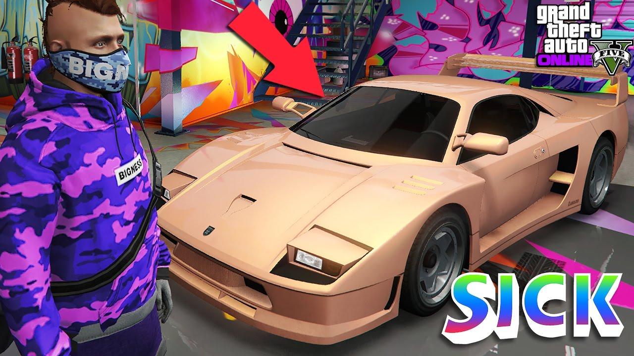 GTA5 Online Paint Jobs RL-Slam! Salmon Grotti Turismo ...