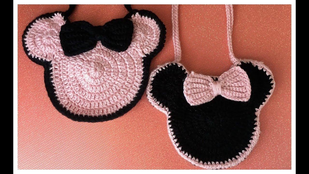 MINNIE MOUSE !! Bolso Para Niña Tejido a Crochet (Super Fácil de Hacer) 69e1e6fce1d