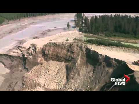 Aerials of destruction caused by Mount Polley Mine tailings pond breach