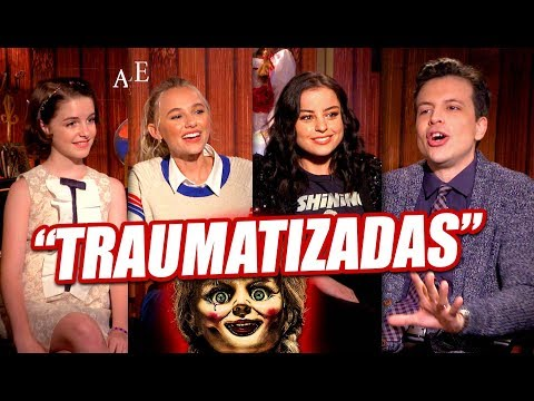 Entrevista a Actrices ANNABELLE COMES HOME Mckenna Grace, Madison Iseman, Katie Sarife - Annabelle 3