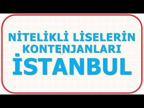 NİTELİKLİ LİSELERİN KONTENJANLARI - İSTANBUL