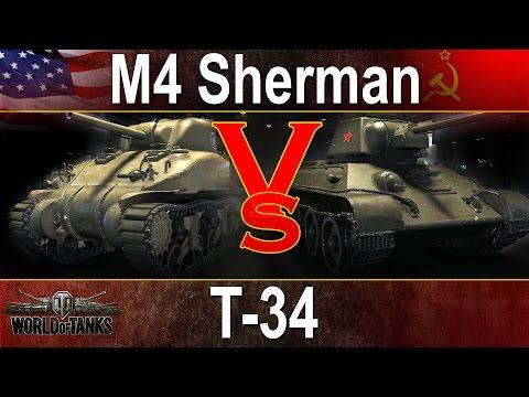 15 x M4 Sherman vs 15 x T-34 - Kto wygra? World of Tanks
