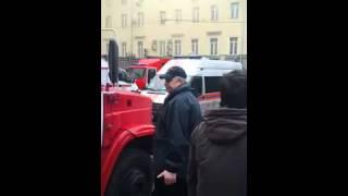 Пожар в здании Министерства обороны. горит в центре Москвы Здание Министерства обороны