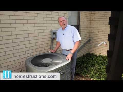 How to clean the outdoor condensing unit on your air conditioner