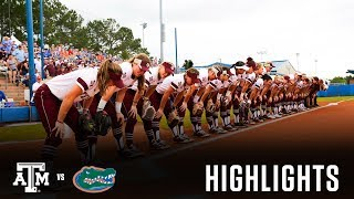 Softball: Highlights | A&M 5, Florida 4 - Super Regional Game 2