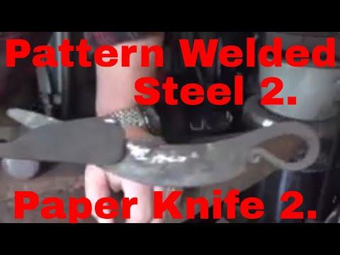 Pattern Welded Steel 2.  Paper Knife 2.