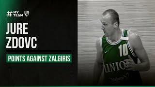 Jure Zdovc Battling Zalgiris In 1999