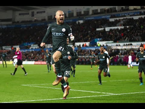 Swansea 0 Manchester City 4 David Silva double helps Pep Guardiola's side to