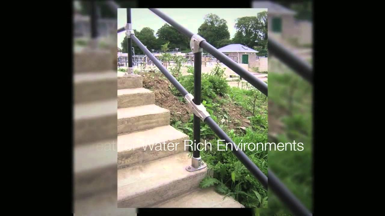 Pipe Railing Styles   Kee Klamp Pipe Railing   YouTube