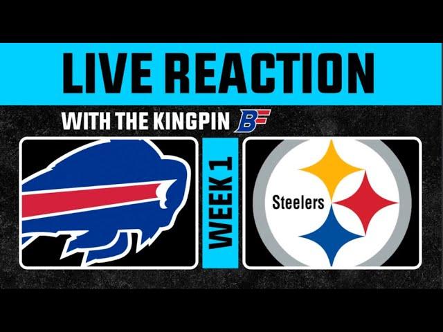 Buffalo Bills vs Steelers LIVE REACTION w/ Pierre Kingpin