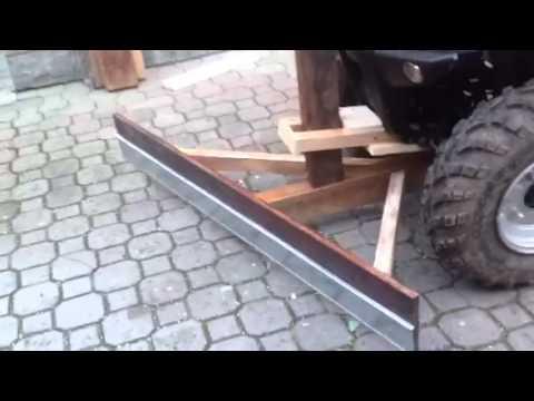 Fai da te pala da neve per quad autocostruita youtube for Laghetto per anatre fai da te