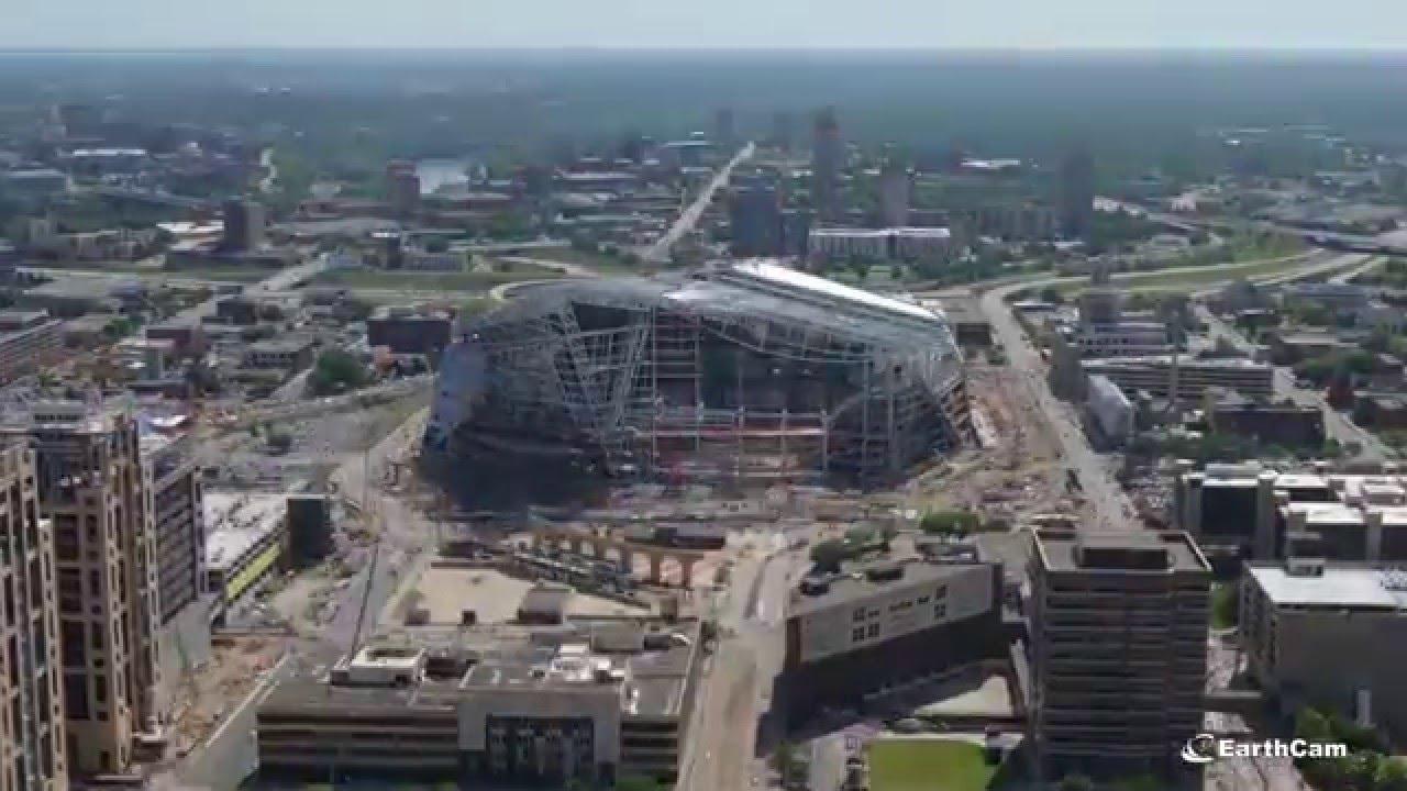 Minnesota Vikings U S Bank Stadium Time Lapse Youtube