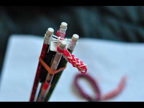 Rainbow Loom Bracelet Tutorial With No Loom (four Pin Fishtail)