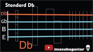 bass tuner - c#/db standard (c# f# b e)