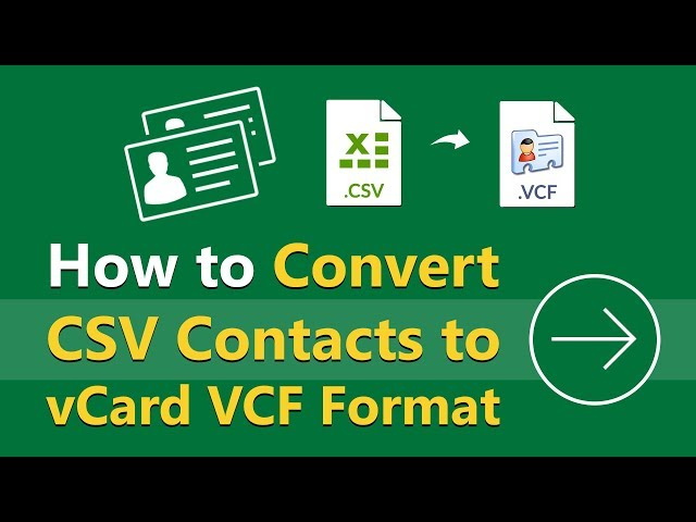 Export LinkedIn Connections to vCard VCF Standard Contacts Format