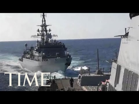 U.S. Warship 'Aggressively Approached' By Russian Ship In North Arabian Sea | TIME